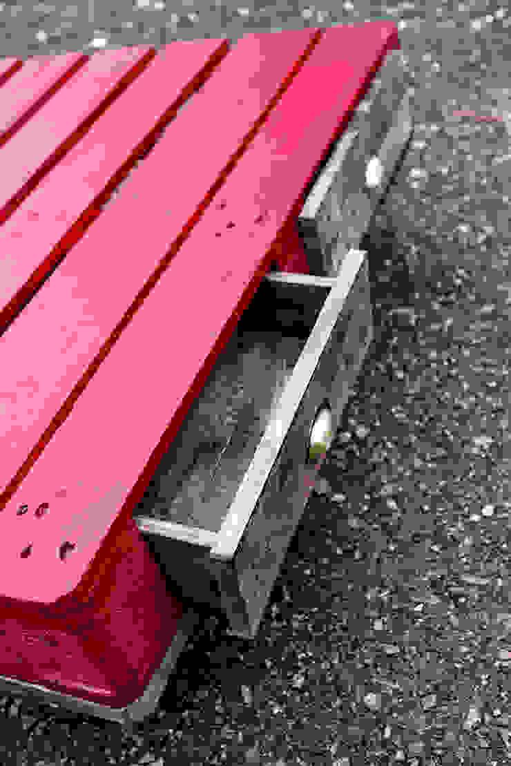 Industriel Table Basse Palette grande table basse palette rouge avec tiroirsartodeco