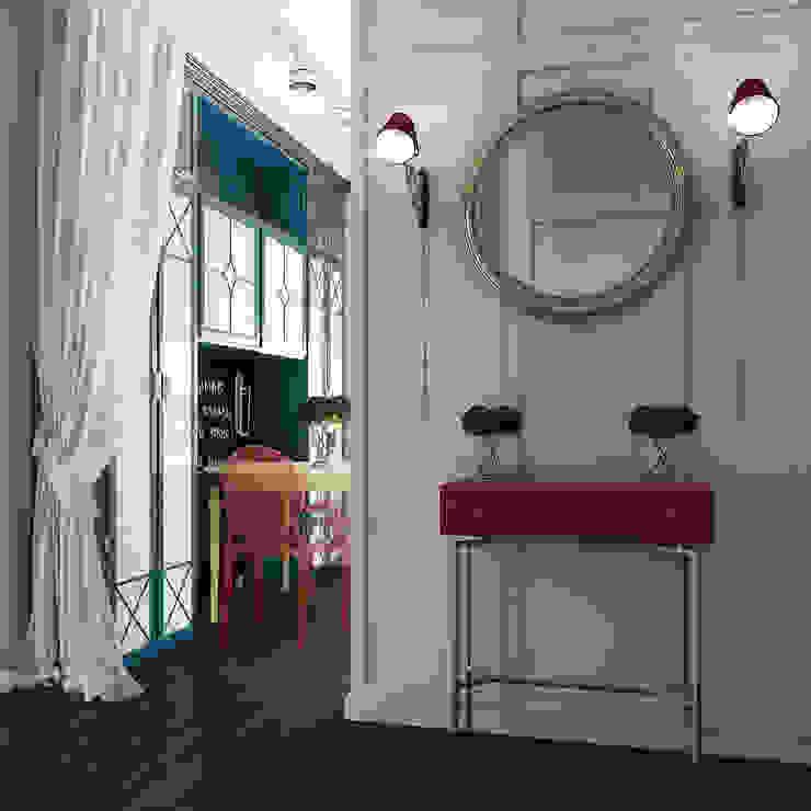 Eclectic style corridor, hallway & stairs by Частный дизайнер и декоратор Девятайкина Софья Eclectic