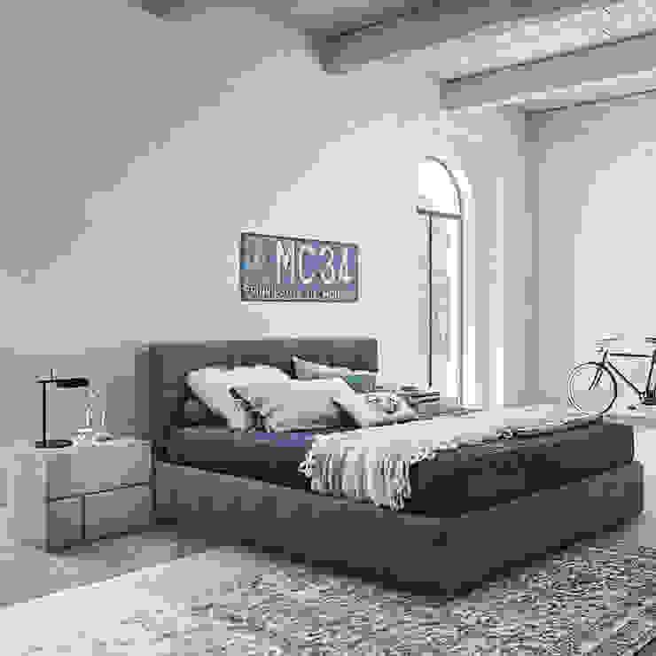 'Ascot' bed with headboard by Veneran de My Italian Living Moderno