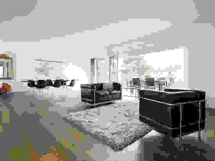 Haus L Moderne Wohnzimmer von nimmrichter architekten ETH SIA AG Modern