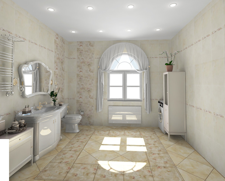 Санузел в классическом стиле Ванная в классическом стиле от Гурьянова Наталья Классический