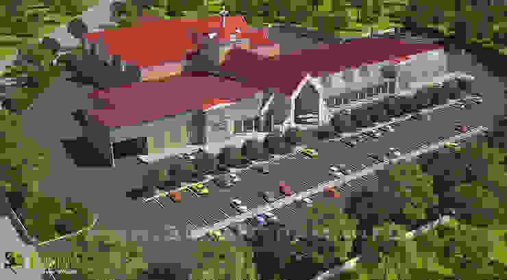 Architectural Exterior 3D Rendering CGI Design: modern  by Yantram Architectural Design Studio, Modern