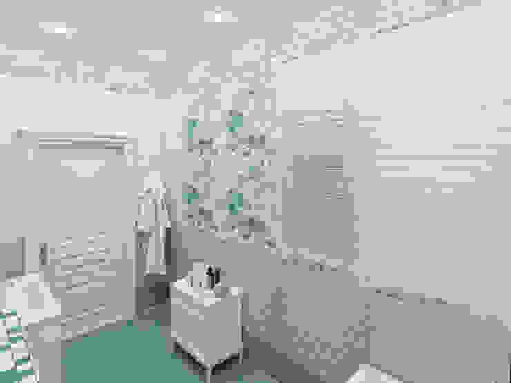 Санузел гостевой в загородном коттедже Ванная комната в стиле модерн от Гурьянова Наталья Модерн