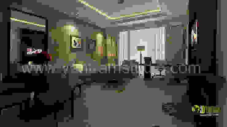 3D Interior Design-Rendering der modernen Hotelzimmer: modern  by Architectural Design Studio,Modern