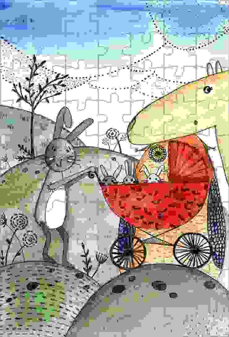 Puzzle z grafiką Rabbits Family od 4rooms.com.pl Klasyczny