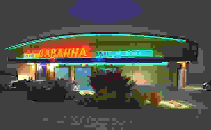 автомоечный комплекс и кафе Автосалоны в стиле модерн от Гурьянова Наталья Модерн