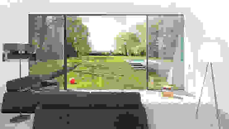 Salones minimalistas de form A architekten Minimalista