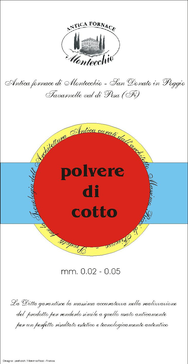 Materiali usati per la realizzazione del Cocciopesto Montecchio S.r.l. Ingresso, Corridoio & Scale in stile mediterraneo