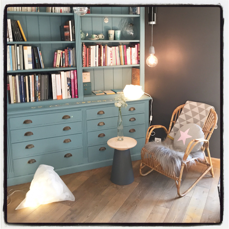 Maison de campagne Salon scandinave par Pour l'amour des belles choses Scandinave