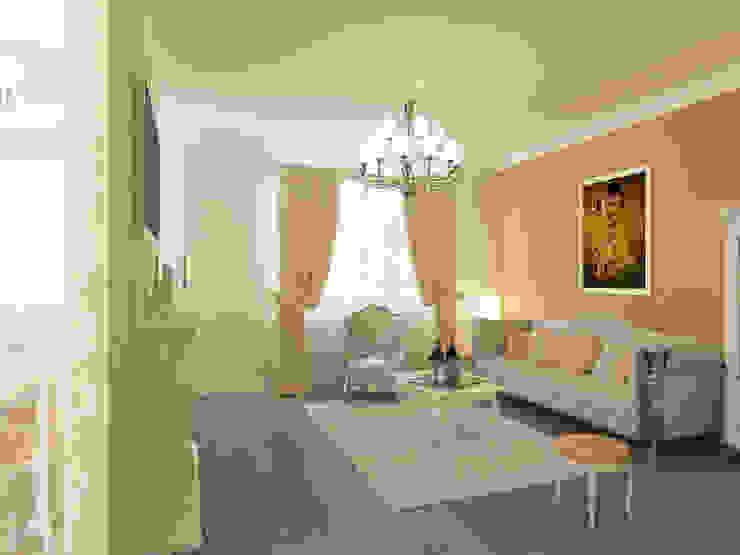 Неоклассика: визуализация, частичный дизайн : Гостиная в . Автор – OK Interior Design, Классический