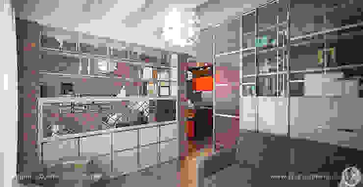 Яркий лофт для молодой семьи Гостиная в стиле лофт от Дизайнер/Декоратор интерьера Лофт