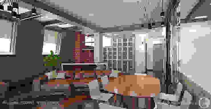Просторные лофт апартаменты Кухня в стиле лофт от Дизайнер/Декоратор интерьера Лофт