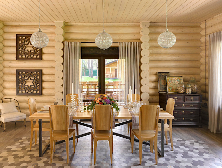 Rustic style dining room by Lavka-design дизайн бюро Rustic