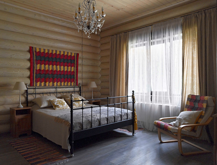 Rustic style bedroom by Lavka-design дизайн бюро Rustic