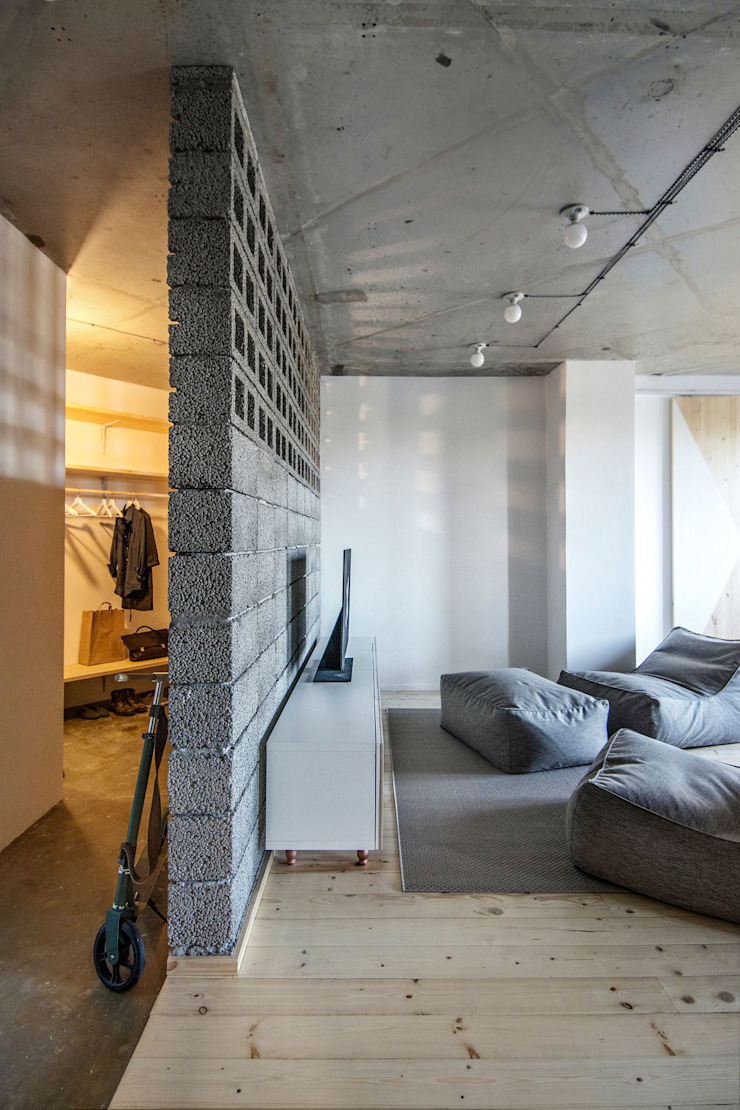 Интерьер AK Коридор, прихожая и лестница в эклектичном стиле от INT2architecture Эклектичный