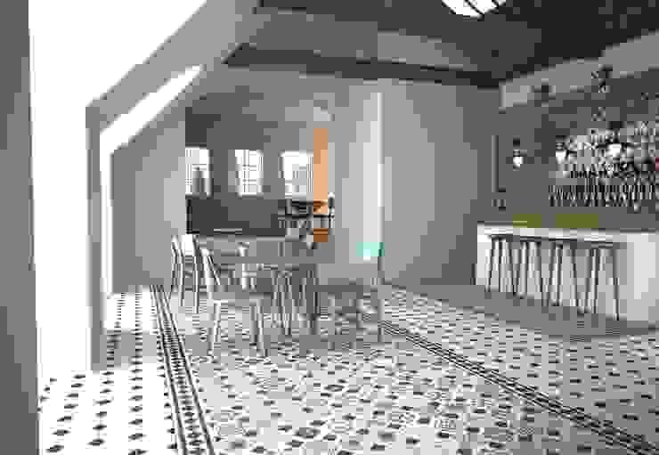 ALFOMBRA PATCHWORK VINTAGE BLANCO Y NEGRO Salones de estilo moderno de Gama Ceramica y Baño Moderno