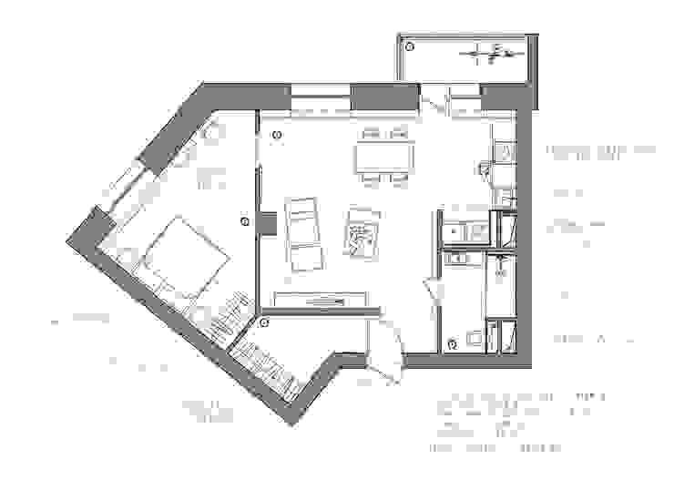 Интерьер AK от INT2architecture Эклектичный