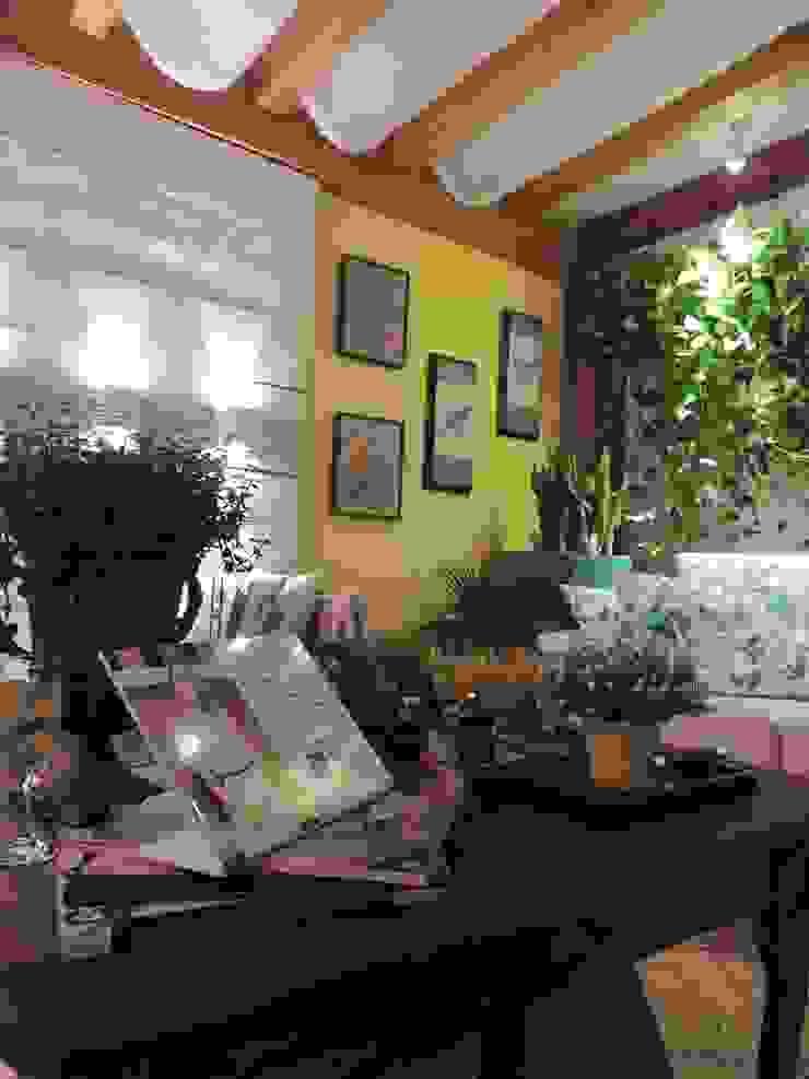 Pergolado para área externa Jardins rústicos por Denise Fumagalli arquitetura e interiores Rústico