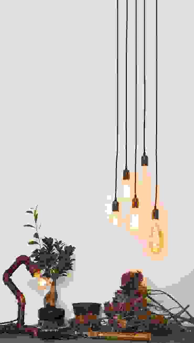 Vintage Industrial Filaments Light Bulbs - Console Table William and Watson Corridor, hallway & stairsLighting