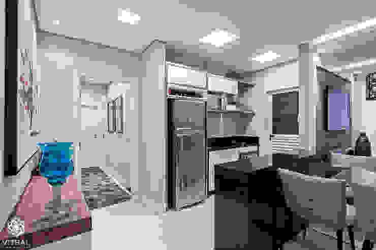Apartamento C.A.A. Cozinhas modernas por VITRAL arquitetura . interiores . iluminação Moderno