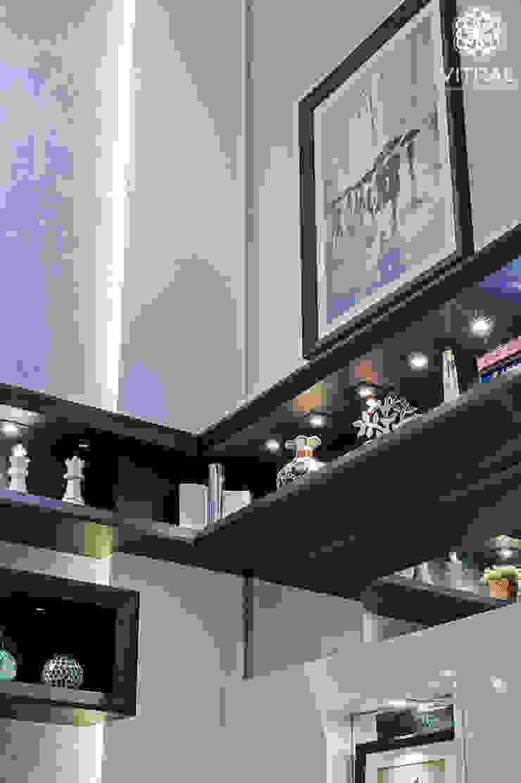 Apartamento C.A.A. Salas de estar modernas por VITRAL arquitetura . interiores . iluminação Moderno