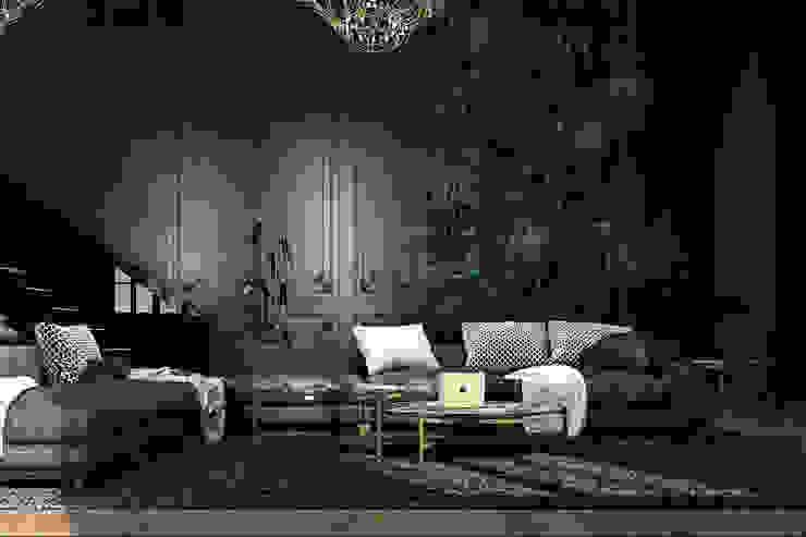 Paris apartment Ausgefallene Wohnzimmer von Diff.Studio Ausgefallen