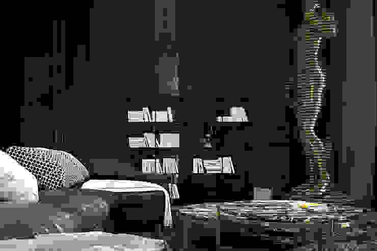 Paris apartment. Гостиные в эклектичном стиле от Diff.Studio Эклектичный