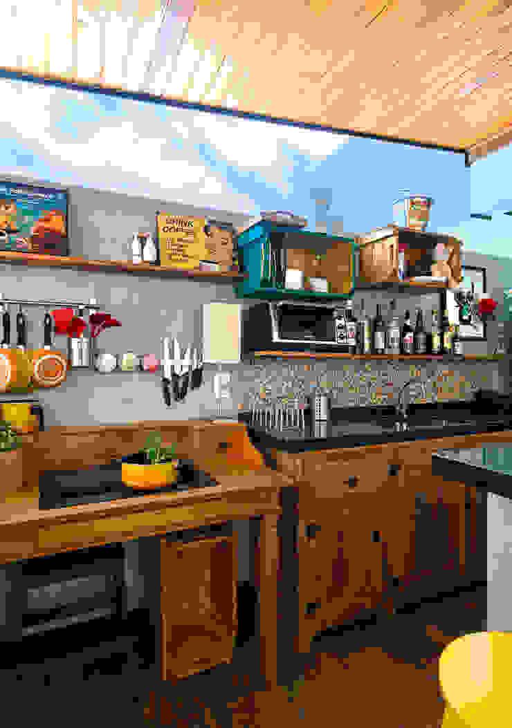 Estúdio 102 Cocinas de estilo moderno