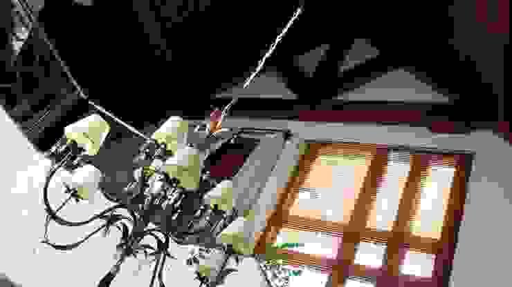 Casa de Inverno Salas de estar rústicas por Kauer Arquitetura e Design Rústico