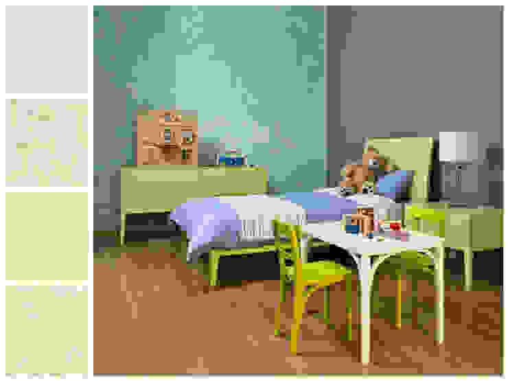 Recámara infantil con mesa de trabajo Dormitorios infantiles minimalistas de MARIANGEL COGHLAN Minimalista