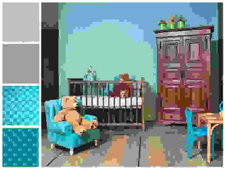 Recámara para bebé MARIANGEL COGHLAN Dormitorios infantiles de estilo rústico