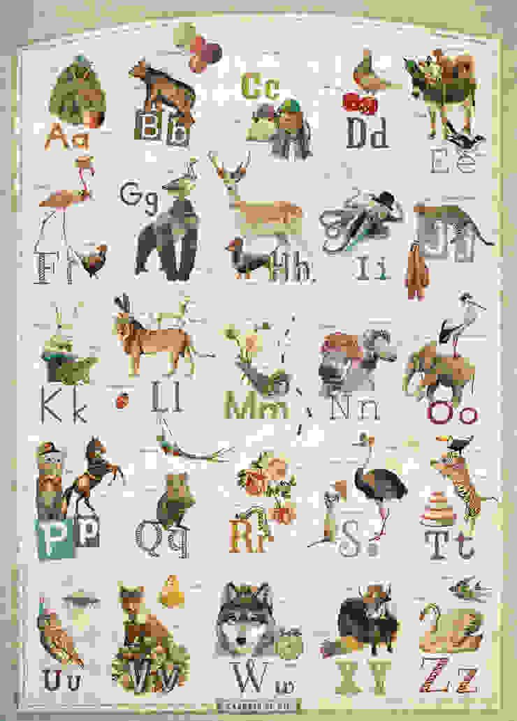 Kaartje of Kip - ABC poster 50x70 cm van Kaartje of Kip Landelijk