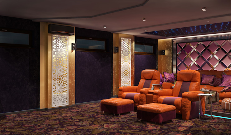 Modern media room by Sweet Home Design Modern