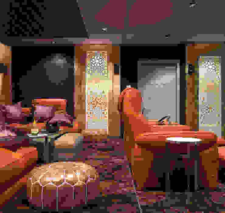 Домашний кинотеатр Медиа комната в стиле модерн от Sweet Home Design Модерн