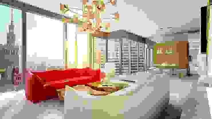 Гостиная в стиле модерн от High Level Design Studio Модерн