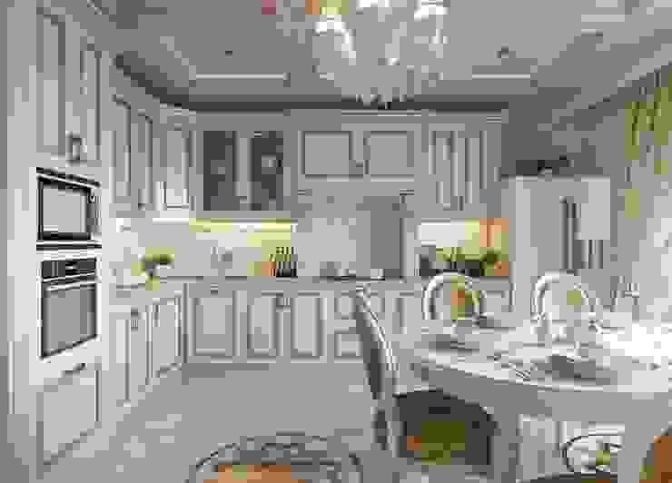 """ЖК Ямайка 118 метров. """"Просто Классика"""" Кухня в классическом стиле от ДизайнМастер Классический"""
