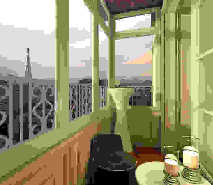 Balcone, Veranda & Terrazza in stile eclettico di KOSHKA INTERIORS Eclettico