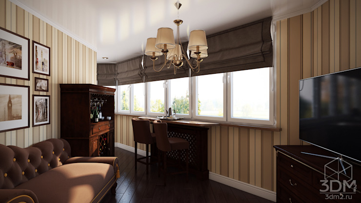 Проект 013: лоджии + ванная Балкон и терраса в классическом стиле от студия визуализации и дизайна интерьера '3dm2' Классический