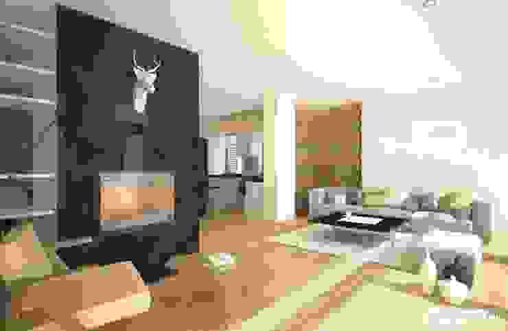 Moderne woonkamers van Pracownia Projektowa ARCHIPELAG Modern
