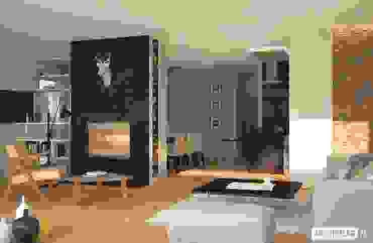 Livings de estilo moderno de Pracownia Projektowa ARCHIPELAG Moderno