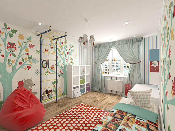 light Детская комната в стиле лофт от студия Виталии Романовской Лофт