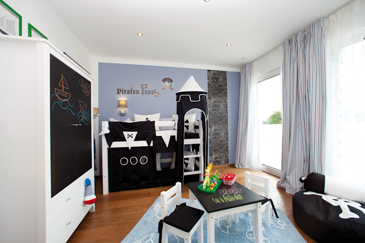 Dormitorios infantiles modernos de ELK Fertighaus GmbH Moderno