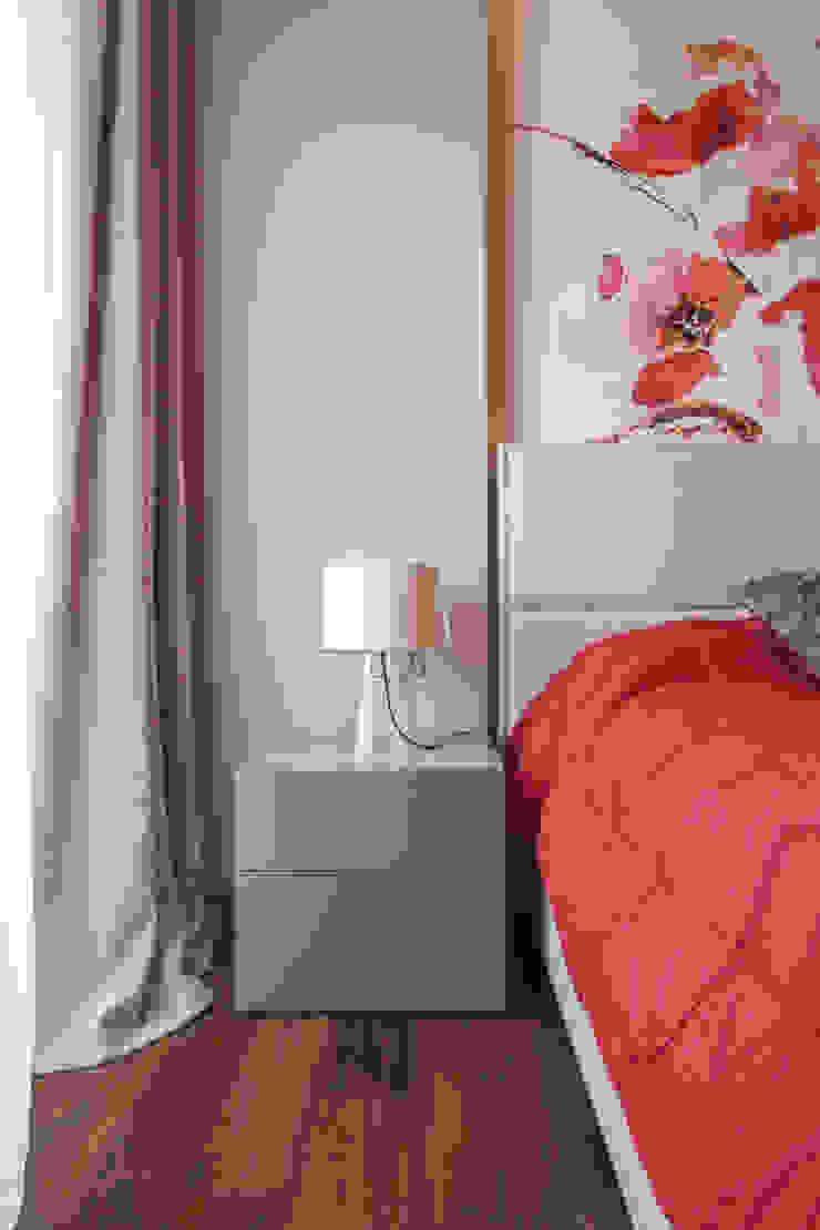Квартира в ЖК Дубровская Слобода Спальня в стиле минимализм от ДизайновТочкаРу Минимализм