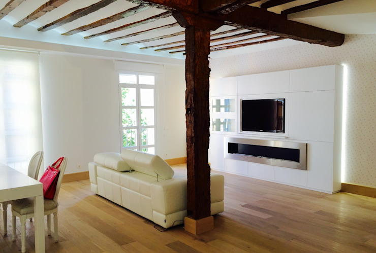 Decoración de interiores con chimenea de bioetanol XXL by Shioconcept Salones de estilo moderno de Shio Concept Moderno