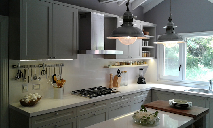 Silvina Lightowler - Diseño a medida Kitchen Grey