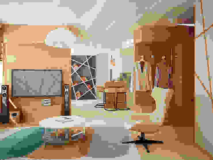Salas / recibidores de estilo  por Vera Rybchenko, Moderno