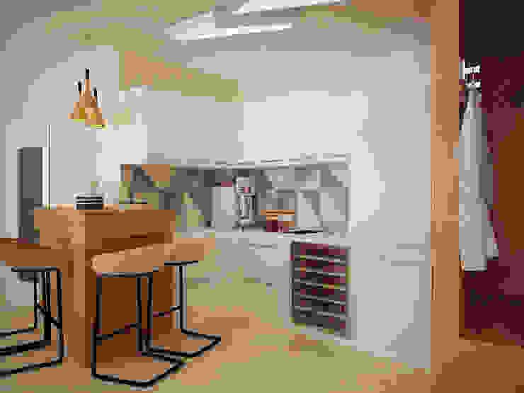 現代廚房設計點子、靈感&圖片 根據 Vera Rybchenko 現代風