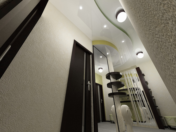 КВАРТИРА. ВОЛНА Коридор, прихожая и лестница в модерн стиле от Vera Rybchenko Модерн