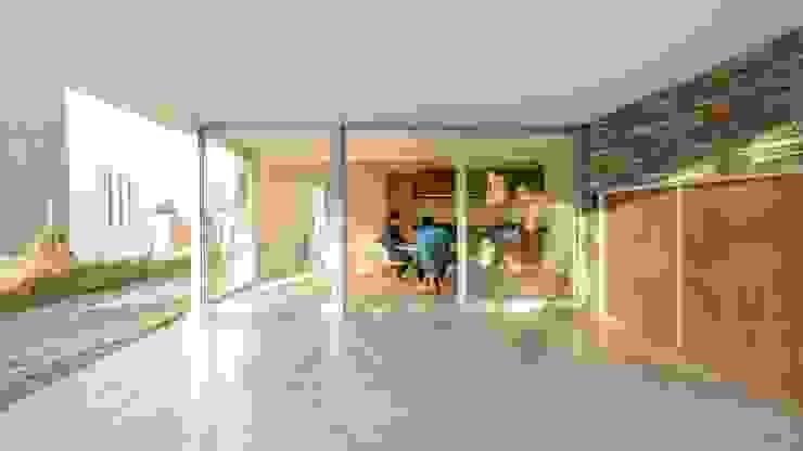 Casas Apareadas Jardines de invierno modernos de Estudio A+3 Moderno