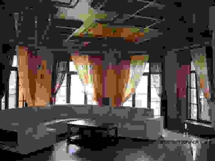 Кессонный потолок в гостиной от Росархпроект.ру Классический